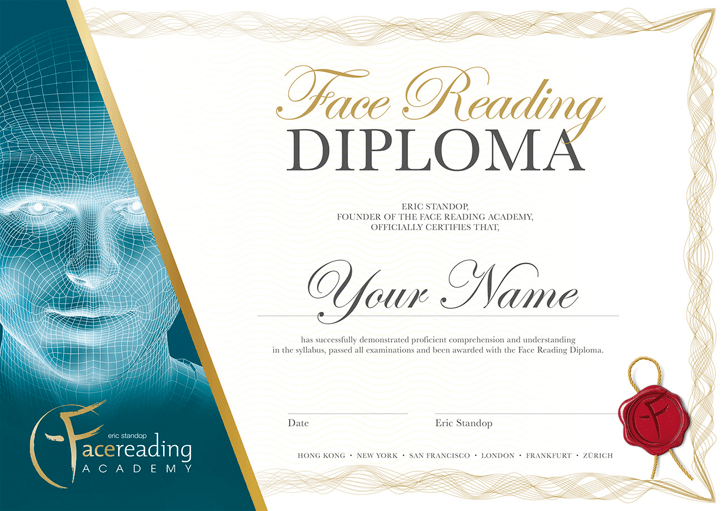 Face Reading Diploma - Face Reading Academy - Eric Standop - Read the Face