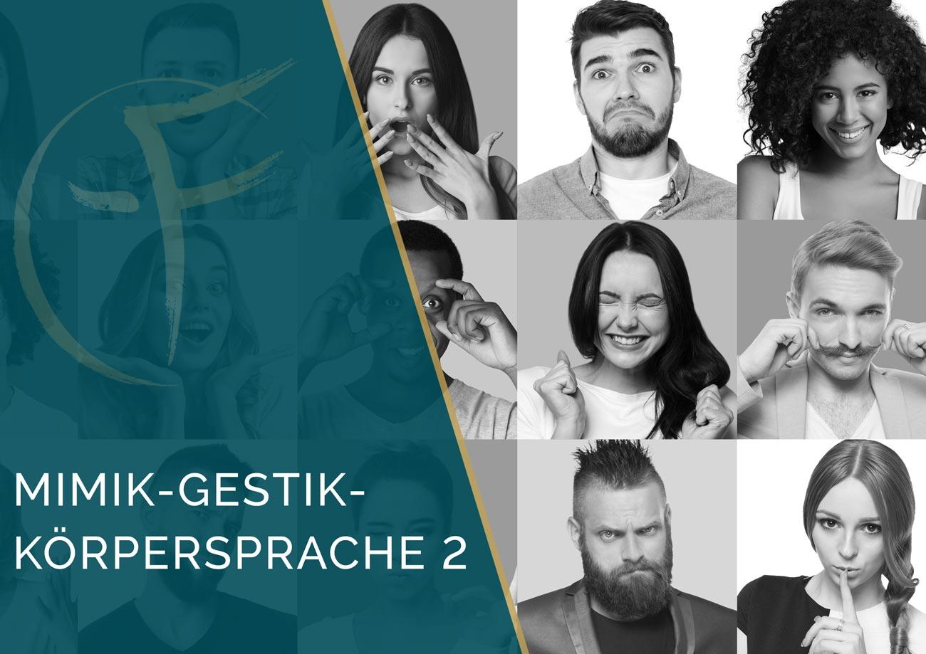 Mimik-Gestik-Koerpersprache 2 - Ausbildung - Gesichtlesen - Cover Kalendar - Eric Standop - Face Reading Academy - Read the Face