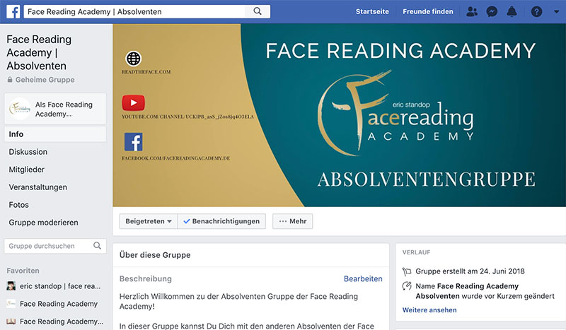 Face Reading Academy - Absolventen Gruppe - Online Kurs -Eric Standop - Read the Face