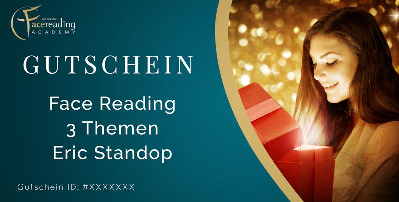 Gutschein - Close Up - Gesichtlesen - Eric Standop - Face Reading Academy - Read the Face