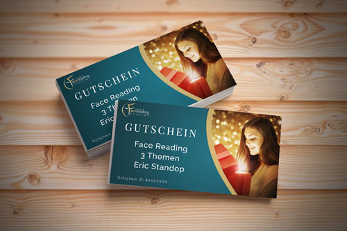 Gutscheine - Shop - Gesichtlesen - Eric Standop - Face Reading Academy - Read the Face