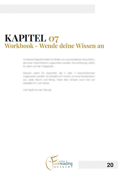 Workbook - Online Kurs - Die 3 Häufigsten Gesichtsformen - Eric Standop - Face Reading Academy - Read the Face